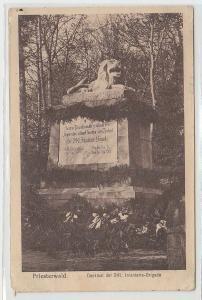 70820 Feldpost Ak Priesterwald Denkmal der 241.Infanterie Brigade 1916
