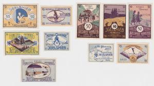 5 Banknoten Notgeld Gemeinde Igelshieb 1.4.1921 (120544)