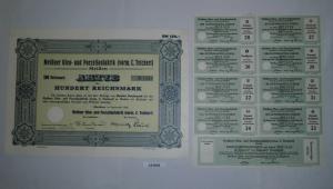 100 RM Aktie Meißner Ofen- und Porzellanfabrik (vorm.C.Teichert) 1934 (131916)