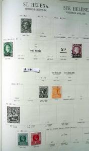 Kleine Briefmarkensammlung St.Helena Britische Besitzung ab 1863