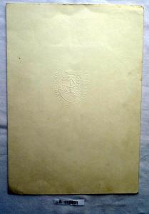 DDR Urkunde zur Aufbaunadel in Bronze 1969 (112301)