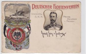 90894 Präge AK Deutscher Flottenverein - Schutzherr Prinz Heinrich von Preussen