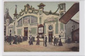 84339 Ak Exposition Bruxelles 1910 französischer Pavillon