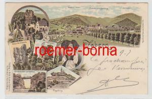 73830 Ak Lithographie Gruss aus Zabern Saverne im Elsass 1897