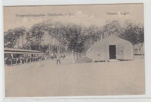71409 Ak Truppenübungsplatz Oberhofen i. Els. Ansicht Unteres Lager um 1910