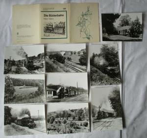 Ansichtskartenmappe mit 9 Karten Die Bäderbahn Putbus - Göhren (94583)