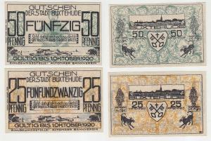 25 & 50 Pfennig Notgeld Buxtehude / Altonaer Bankverein 1.10.1920 (116241)