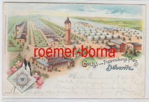 56813 Ak Lithografie Gruss vom Truppenübungsplatz Döberitz 1899