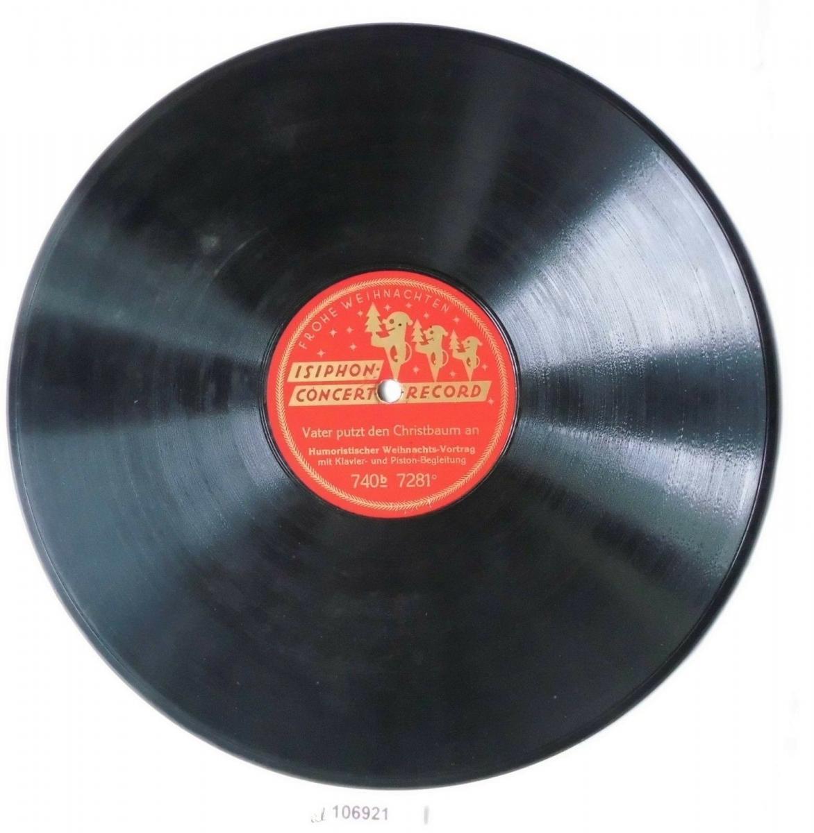 106921 Schellackplatte Isiphon