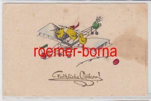 86232 geprägte Ak Fröhliche Ostern! Küken auf Segelflieger 1912