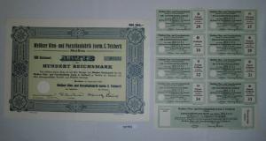 100 RM Aktie Meißner Ofen- und Porzellanfabrik (vorm.C.Teichert) 1934 (131753)