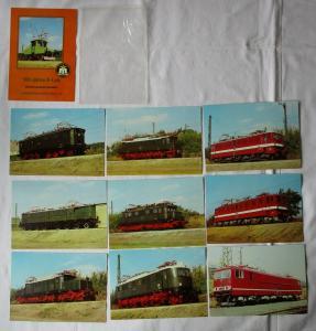Ansichtskartenmappe mit 9 Karten 100 Jahre E-Lok Verkehrsmuseum Dresden (94584)