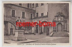 74445 Ak Cüstrin A. Schloßhof mit Kurprinz-Friedrich-Wilhelm-Denkmal 1929