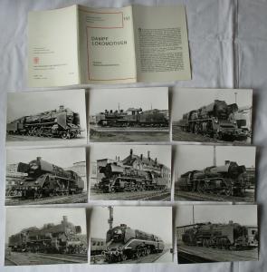 Ansichtskartenmappe mit 9 Karten Dampflokomotiven Folge 8 Reisezugloks (94585)