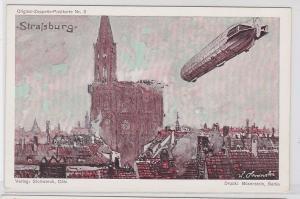 67295 Original Zeppelin Postkarte Nr.3 Zeppelin über Mannheim um 1920