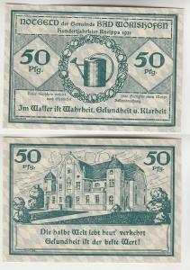 50 Pfennig Banknote Notgeld Gemeinde Bad Wörrishofen 1921 (113611)