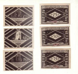 3 Banknoten Notgeld Gemeinde Hasloh um 1920 (112526)