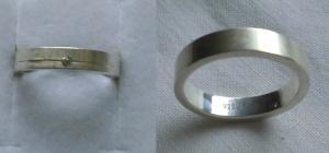 Moderner zeitloser Damenring 925er Silber mit kleinem weißem Stein (117670)
