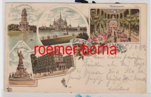 85287 Ak Lithografie Gruss aus Bremen Hillmann´s Hotel usw. 1899
