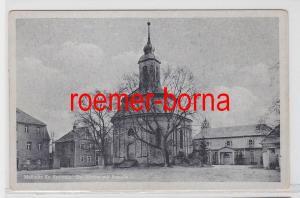 20916 Ak Mallmitz Małomice Kreis Sprottau Kirche mit Kapelle um 1940