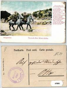 47060 Feldpost Ak Deutsch Süd West Afrika Kriegsbilder um 1907