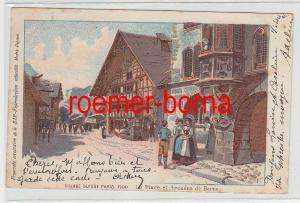 73942 Ak Lithographie La Place et Arcades de Berne Schweiz 1900