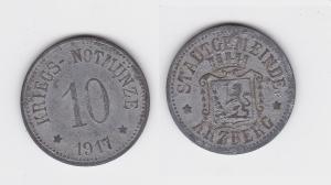 10 Pfennig Notgeld Zink Münze Stadt Arzberg 1917 (123005)