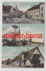 85419 Mehrbild Ak Apenrade Aabenraa Dänemark Store Toro, Havnen, Kolstrup 1910