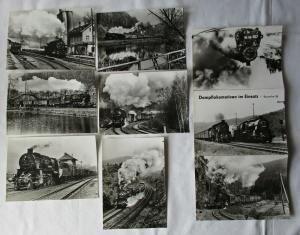 Ansichtskartenmappe mit 6 Karten Dampflokomotiven im Einsatz BR 58 (93935)