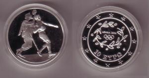 10 Euro Silber Münze Griechenland Olympiade Handball 2004 PP (107551)