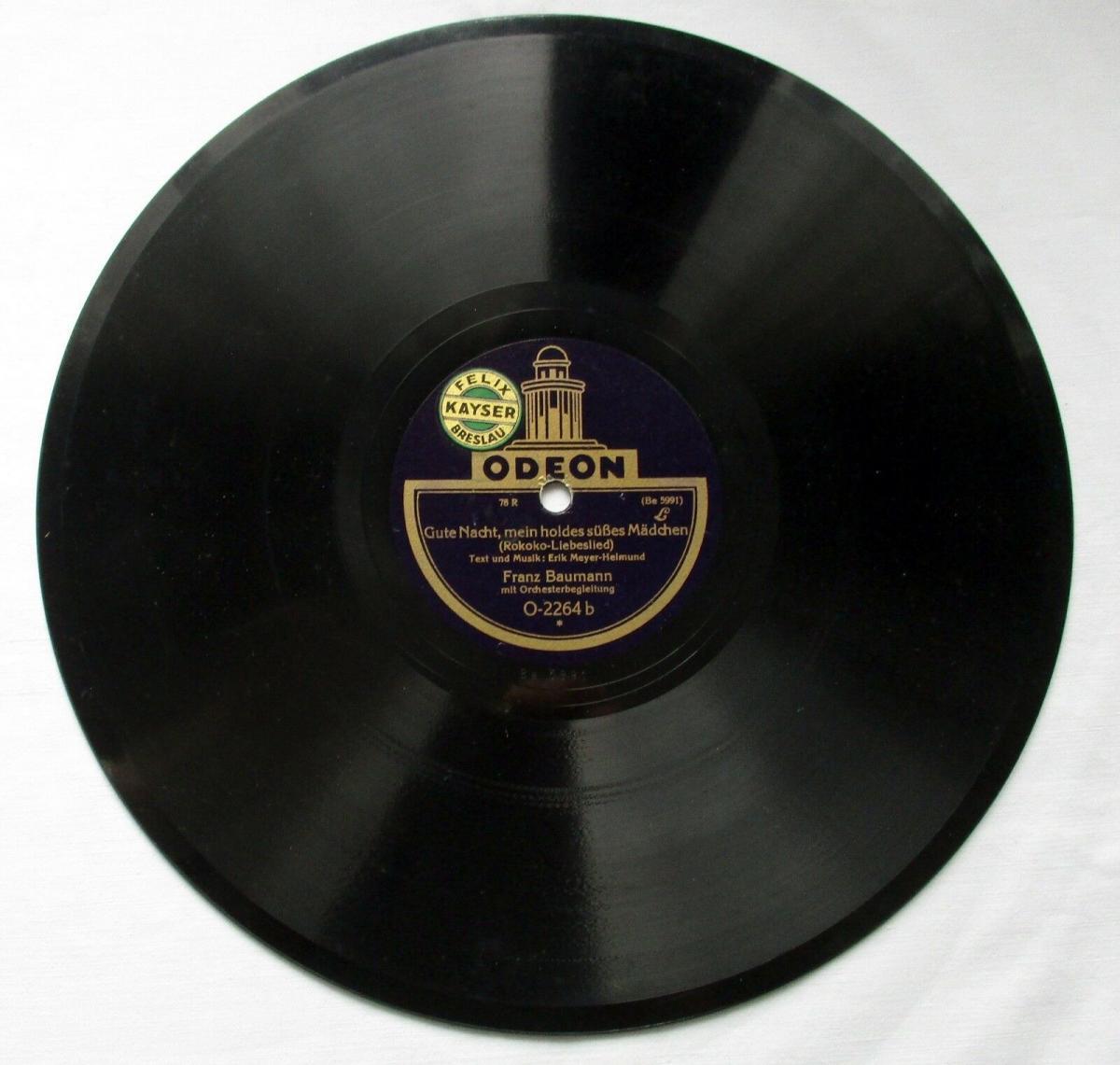 124678 Odeon Schellackplatte Gute Nacht, mein holdes süßes Mädchen um 1930 0