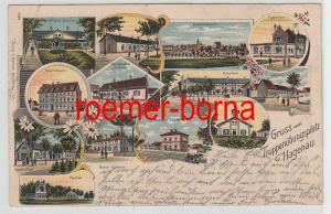 37567 Ak Lithographie Gruß vom Truppenübungsplatz bei Hagenau 1904