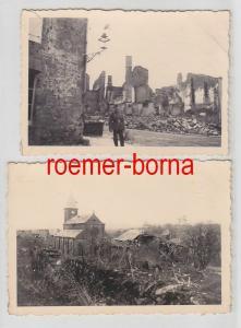 68175/2 Original Fotos Zerstörungen Verdun im 2.Weltkrieg