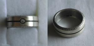 Moderner Damenring 925er Silber kleinem weißen Stein (113196)