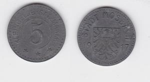 5 Pfennig Notgeld Zink Münze Stadt Mosbach 1917 (122905)
