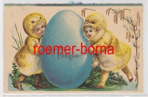 86230 Ak Ostern Buona Pasqua. Kinder im Küken-Kostüm mit Osterei 1933