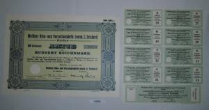 100 RM Aktie Meißner Ofen- und Porzellanfabrik (vorm.C.Teichert) 1934 (132056)