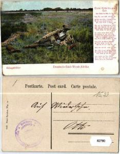 82780 Feldpost Ak Deutsch Süd West Afrika Kriegsbilder um 1907
