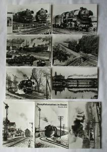 Ansichtskartenmappe mit 6 Karten Dampflokomotiven im Einsatz BR 58.30 (85649)