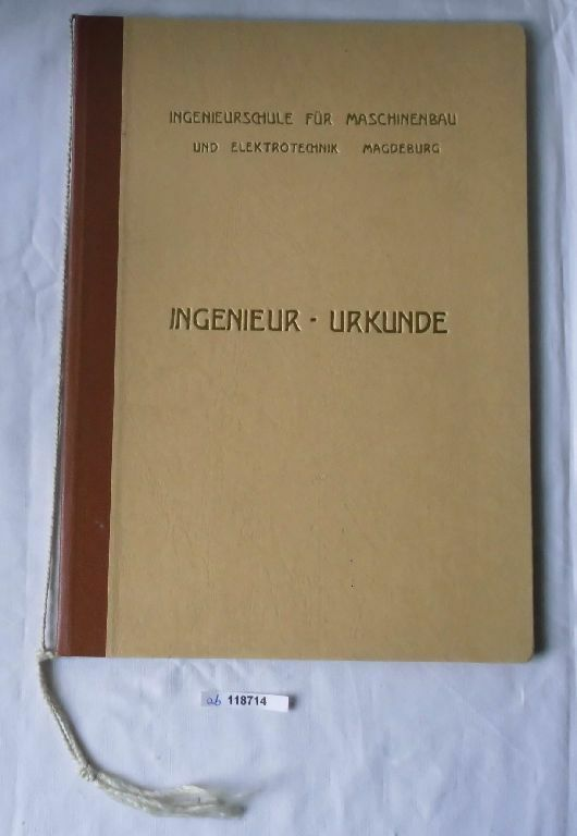 DDR Mappe Ingenieurschule für Maschinenbau und Elektrotechnik Magdeburg (118714) 0