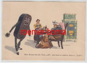 73081 Reklame Ak Troll Braunkohlen Brikett um 1940