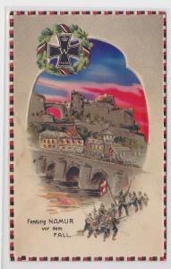 83626 Patriotika Präge AK Festung Namur vor dem Fall um 1915