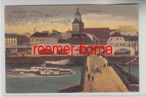54258 Ak Landsberg an der Warthe am Bollwerk mit Weingroßhandlung 1922