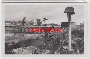 72635 Ak Smolensk Soldatengrab am Dnjepr um 1942