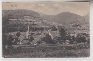 68491 Ak Lubine in Lothringen Totalansicht 1918