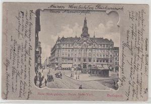 67957 Ak Budapest Palais New York 1907