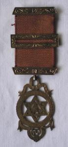 Seltenes Freimaurer Abzeichen einer Loge aus London um 1900 (115500)