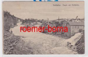 84815 Ak Trollhättan Toppö- och Gullöfallen 1907