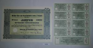 100 RM Aktie Meißner Ofen- und Porzellanfabrik (vorm.C.Teichert) 1934 (131757)