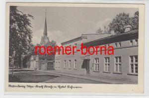 79957 Ak Rosenberg Westpreußen - Kath. Kirche m. Hotel Lehmann 1940
